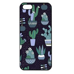Cactus Pattern Apple Iphone 5 Seamless Case (black) by allthingseveryone