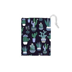 Cactus Pattern Drawstring Pouches (xs)  by allthingseveryone