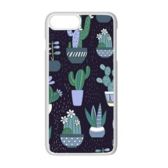 Cactus Pattern Apple Iphone 8 Plus Seamless Case (white)