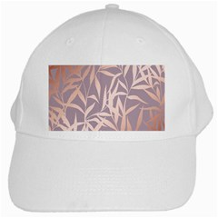 Rose Gold, Asian,leaf,pattern,bamboo Trees, Beauty, Pink,metallic,feminine,elegant,chic,modern,wedding White Cap