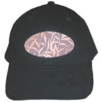 rose gold, asian,leaf,pattern,bamboo trees, beauty, pink,metallic,feminine,elegant,chic,modern,wedding Black Cap Front