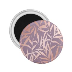 Rose Gold, Asian,leaf,pattern,bamboo Trees, Beauty, Pink,metallic,feminine,elegant,chic,modern,wedding 2 25  Magnets by 8fugoso