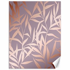 Rose Gold, Asian,leaf,pattern,bamboo Trees, Beauty, Pink,metallic,feminine,elegant,chic,modern,wedding Canvas 18  X 24