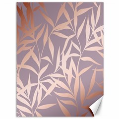 Rose Gold, Asian,leaf,pattern,bamboo Trees, Beauty, Pink,metallic,feminine,elegant,chic,modern,wedding Canvas 36  X 48