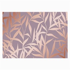 Rose Gold, Asian,leaf,pattern,bamboo Trees, Beauty, Pink,metallic,feminine,elegant,chic,modern,wedding Large Glasses Cloth (2-side) by 8fugoso