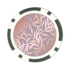 Rose Gold, Asian,leaf,pattern,bamboo Trees, Beauty, Pink,metallic,feminine,elegant,chic,modern,wedding Poker Chip Card Guard (10 Pack)