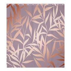 Rose Gold, Asian,leaf,pattern,bamboo Trees, Beauty, Pink,metallic,feminine,elegant,chic,modern,wedding Shower Curtain 66  X 72  (large)  by 8fugoso