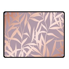 Rose Gold, Asian,leaf,pattern,bamboo Trees, Beauty, Pink,metallic,feminine,elegant,chic,modern,wedding Fleece Blanket (small) by 8fugoso