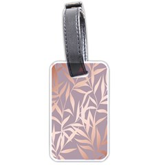 Rose Gold, Asian,leaf,pattern,bamboo Trees, Beauty, Pink,metallic,feminine,elegant,chic,modern,wedding Luggage Tags (one Side)
