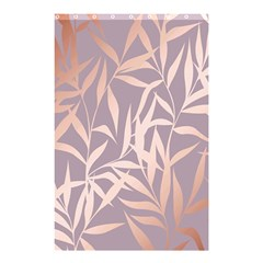 Rose Gold, Asian,leaf,pattern,bamboo Trees, Beauty, Pink,metallic,feminine,elegant,chic,modern,wedding Shower Curtain 48  X 72  (small)