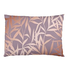 Rose Gold, Asian,leaf,pattern,bamboo Trees, Beauty, Pink,metallic,feminine,elegant,chic,modern,wedding Pillow Case (two Sides) by 8fugoso
