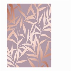 Rose Gold, Asian,leaf,pattern,bamboo Trees, Beauty, Pink,metallic,feminine,elegant,chic,modern,wedding Small Garden Flag (two Sides)