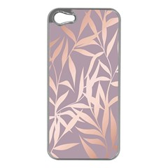 Rose Gold, Asian,leaf,pattern,bamboo Trees, Beauty, Pink,metallic,feminine,elegant,chic,modern,wedding Apple Iphone 5 Case (silver)