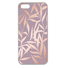 Rose Gold, Asian,leaf,pattern,bamboo Trees, Beauty, Pink,metallic,feminine,elegant,chic,modern,wedding Apple Seamless Iphone 5 Case (clear)