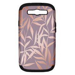 Rose Gold, Asian,leaf,pattern,bamboo Trees, Beauty, Pink,metallic,feminine,elegant,chic,modern,wedding Samsung Galaxy S Iii Hardshell Case (pc+silicone)