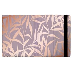 Rose Gold, Asian,leaf,pattern,bamboo Trees, Beauty, Pink,metallic,feminine,elegant,chic,modern,wedding Apple Ipad 2 Flip Case