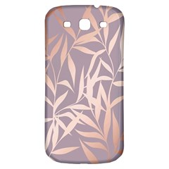 Rose Gold, Asian,leaf,pattern,bamboo Trees, Beauty, Pink,metallic,feminine,elegant,chic,modern,wedding Samsung Galaxy S3 S Iii Classic Hardshell Back Case by 8fugoso