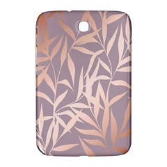 Rose Gold, Asian,leaf,pattern,bamboo Trees, Beauty, Pink,metallic,feminine,elegant,chic,modern,wedding Samsung Galaxy Note 8 0 N5100 Hardshell Case  by 8fugoso