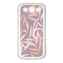 Rose Gold, Asian,leaf,pattern,bamboo Trees, Beauty, Pink,metallic,feminine,elegant,chic,modern,wedding Samsung Galaxy S3 Back Case (white) by 8fugoso