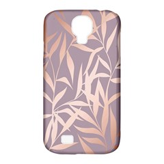 Rose Gold, Asian,leaf,pattern,bamboo Trees, Beauty, Pink,metallic,feminine,elegant,chic,modern,wedding Samsung Galaxy S4 Classic Hardshell Case (pc+silicone) by 8fugoso