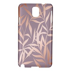 Rose Gold, Asian,leaf,pattern,bamboo Trees, Beauty, Pink,metallic,feminine,elegant,chic,modern,wedding Samsung Galaxy Note 3 N9005 Hardshell Case by 8fugoso