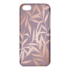Rose Gold, Asian,leaf,pattern,bamboo Trees, Beauty, Pink,metallic,feminine,elegant,chic,modern,wedding Apple Iphone 5c Hardshell Case