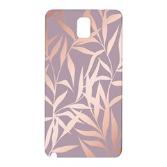 Rose Gold, Asian,leaf,pattern,bamboo Trees, Beauty, Pink,metallic,feminine,elegant,chic,modern,wedding Samsung Galaxy Note 3 N9005 Hardshell Back Case by 8fugoso