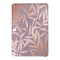 Rose Gold, Asian,leaf,pattern,bamboo Trees, Beauty, Pink,metallic,feminine,elegant,chic,modern,wedding Samsung Galaxy Tab Pro 12 2 Hardshell Case