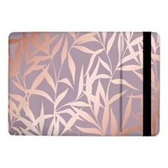Rose Gold, Asian,leaf,pattern,bamboo Trees, Beauty, Pink,metallic,feminine,elegant,chic,modern,wedding Samsung Galaxy Tab Pro 10 1  Flip Case
