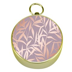 Rose Gold, Asian,leaf,pattern,bamboo Trees, Beauty, Pink,metallic,feminine,elegant,chic,modern,wedding Gold Compasses
