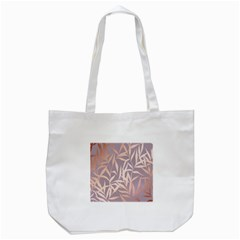 Rose Gold, Asian,leaf,pattern,bamboo Trees, Beauty, Pink,metallic,feminine,elegant,chic,modern,wedding Tote Bag (white) by 8fugoso