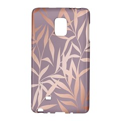 Rose Gold, Asian,leaf,pattern,bamboo Trees, Beauty, Pink,metallic,feminine,elegant,chic,modern,wedding Galaxy Note Edge by 8fugoso