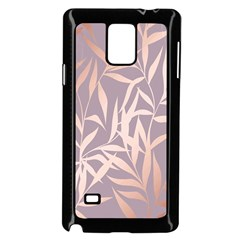Rose Gold, Asian,leaf,pattern,bamboo Trees, Beauty, Pink,metallic,feminine,elegant,chic,modern,wedding Samsung Galaxy Note 4 Case (black) by 8fugoso