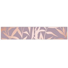 Rose Gold, Asian,leaf,pattern,bamboo Trees, Beauty, Pink,metallic,feminine,elegant,chic,modern,wedding Large Flano Scarf