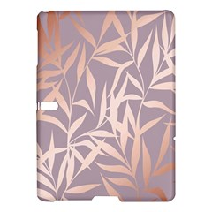 Rose Gold, Asian,leaf,pattern,bamboo Trees, Beauty, Pink,metallic,feminine,elegant,chic,modern,wedding Samsung Galaxy Tab S (10 5 ) Hardshell Case