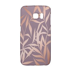 Rose Gold, Asian,leaf,pattern,bamboo Trees, Beauty, Pink,metallic,feminine,elegant,chic,modern,wedding Galaxy S6 Edge by 8fugoso