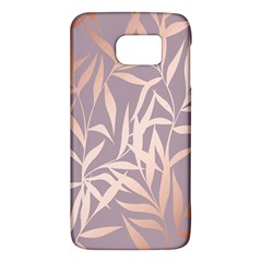 Rose Gold, Asian,leaf,pattern,bamboo Trees, Beauty, Pink,metallic,feminine,elegant,chic,modern,wedding Galaxy S6