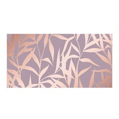 Rose Gold, Asian,leaf,pattern,bamboo Trees, Beauty, Pink,metallic,feminine,elegant,chic,modern,wedding Satin Wrap