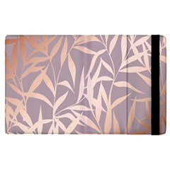 Rose Gold, Asian,leaf,pattern,bamboo Trees, Beauty, Pink,metallic,feminine,elegant,chic,modern,wedding Apple Ipad Pro 9 7   Flip Case