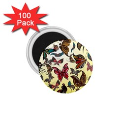 Colorful Butterflies 1 75  Magnets (100 Pack)