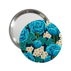 Light Blue Roses And Daisys 2 25  Handbag Mirrors by allthingseveryone