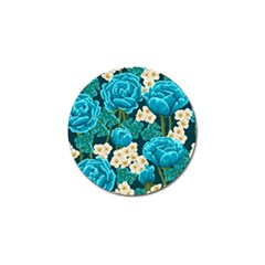 Light Blue Roses And Daisys Golf Ball Marker by allthingseveryone