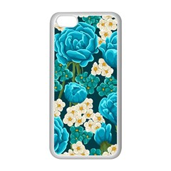 Light Blue Roses And Daisys Apple Iphone 5c Seamless Case (white) by allthingseveryone