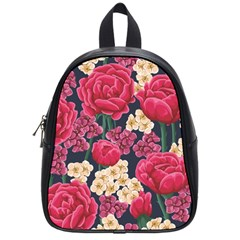 Pink Roses And Daisies School Bag (small) by allthingseveryone