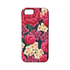 Pink Roses And Daisies Apple Iphone 5 Classic Hardshell Case (pc+silicone) by allthingseveryone