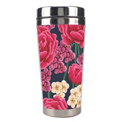 Pink Roses And Daisies Stainless Steel Travel Tumblers by allthingseveryone