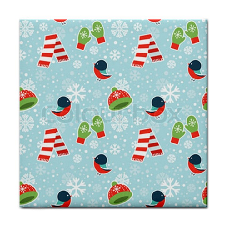 Winter Fun Pattern Tile Coasters