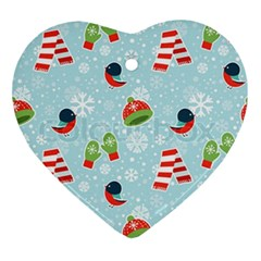 Winter Fun Pattern Ornament (heart) by allthingseveryone