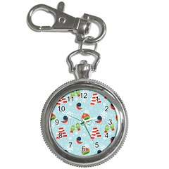 Winter Fun Pattern Key Chain Watches