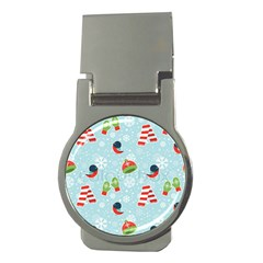 Winter Fun Pattern Money Clips (round)